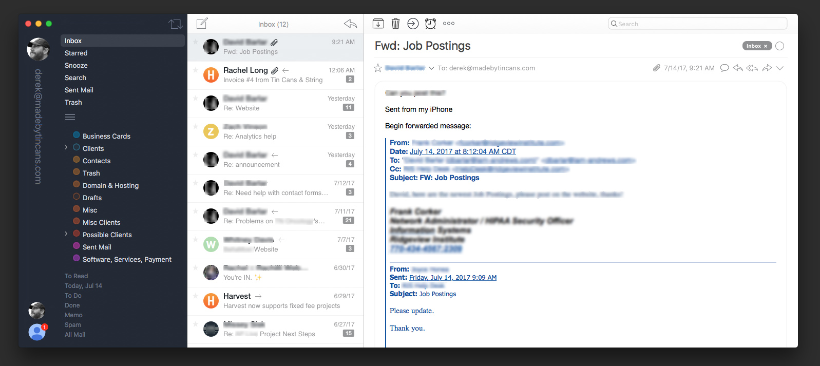 airmail default view
