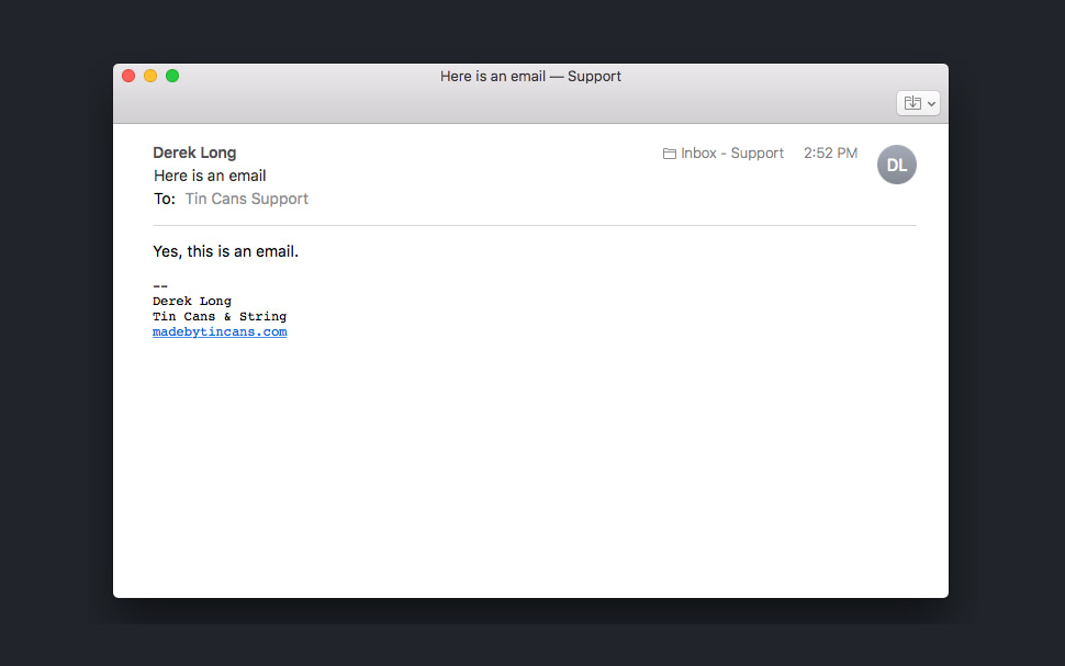 apple mail read view